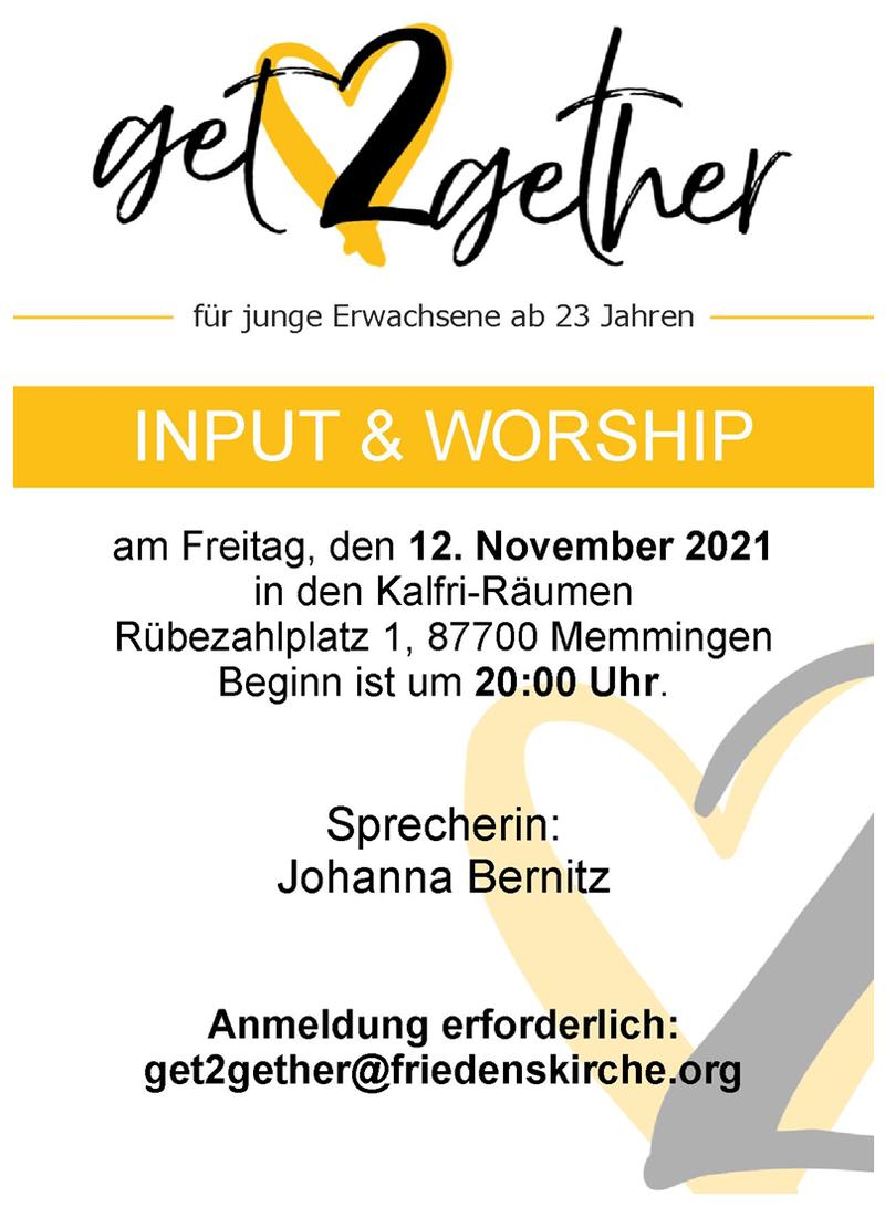 Input & Worship